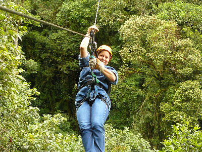 And, of course, Wanda went Tree Trekking too....