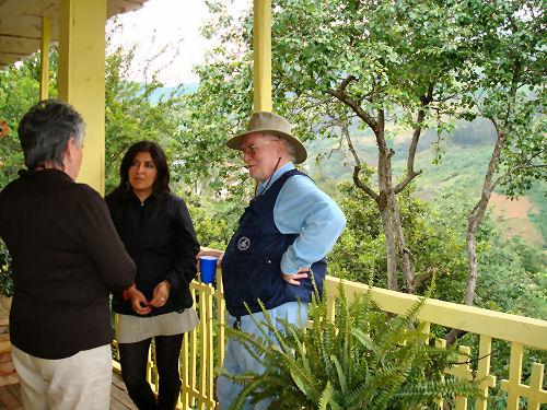 Me, Chela (a fabulous Ecuadorian friend) and Bill Bushnell (we call him Bush)