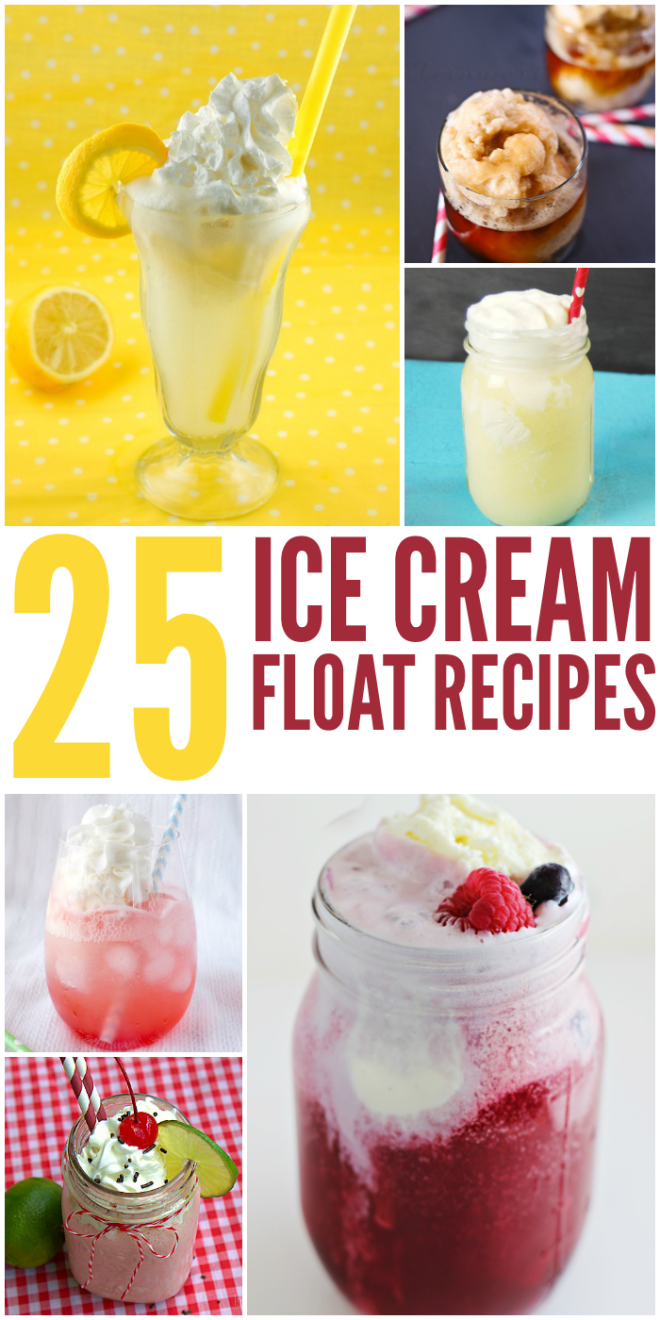 Be sure to try out these 25 Ice Cream Floats recipes! These are a great dessert to have during the hot summer months and great way to stay cool.