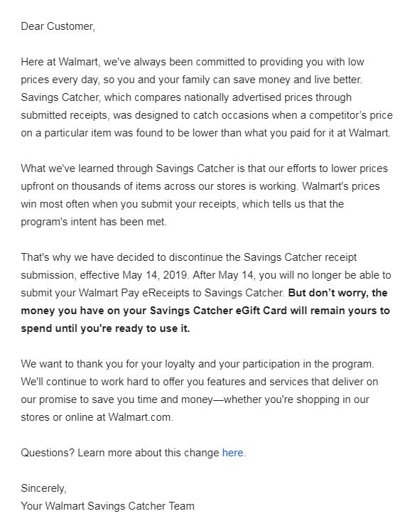 Walmart is discontinuing Savings Catcher  – Penny Puss