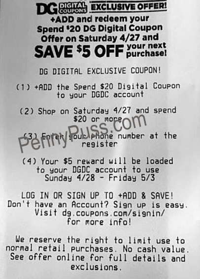 Have You Seen The New Dg Digital 5 Coupon For Saturday Penny Puss