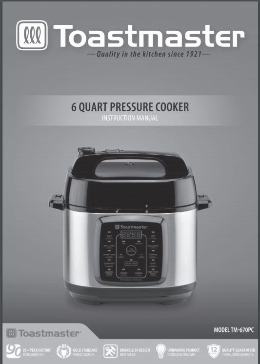 ghdonat.com Black 6 quart Toastmaster TM-673PC Pressure Cooker ...