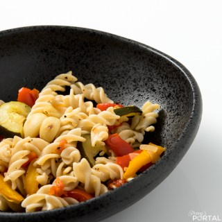 Roasted Veggie Pasta (Vegan, Gluten & Oil Free)