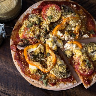 Vegan & Gluten Free Pizza with Tofu Ricotta