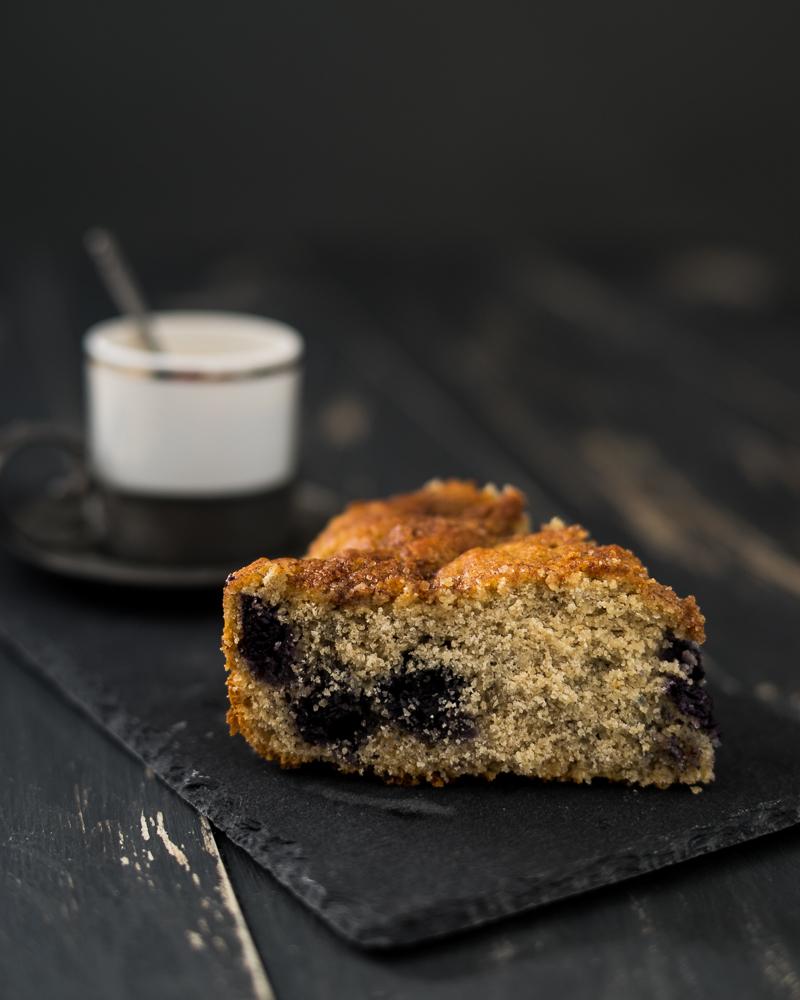 Blueberry coffee cake vegan
