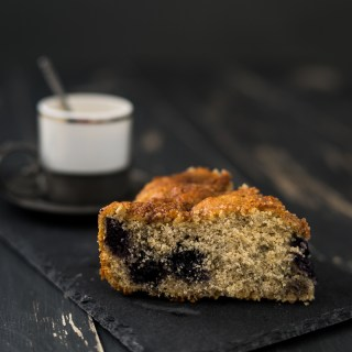 Blueberry Coffee Cake (Vegan, Gluten & Oil Free, Low Fat)