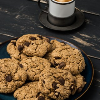 Magical Chocolate Chip Cookies (Vegan, Gluten free, Oil free)