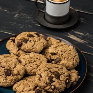 Magical Chocolate Chip Cookies (Vegan, Gluten free, Oil free)