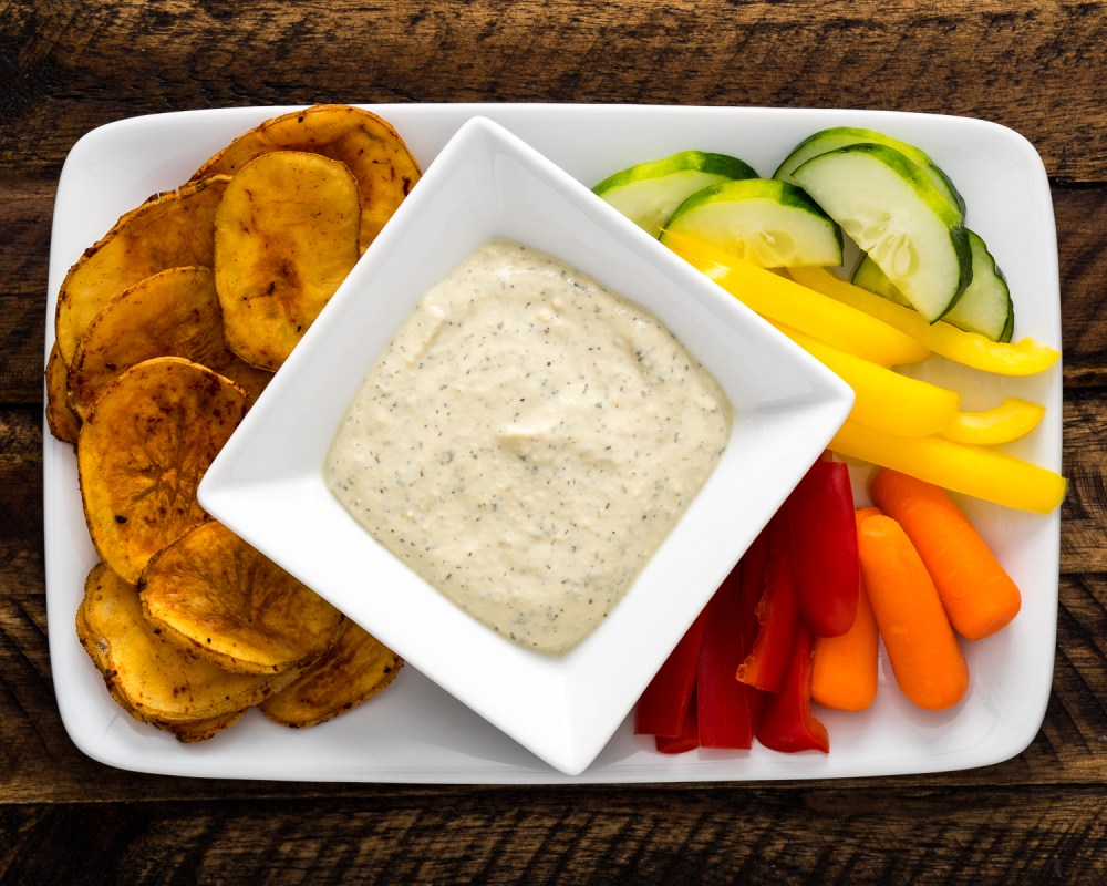 Vegan Ranch Dressing and Veggies