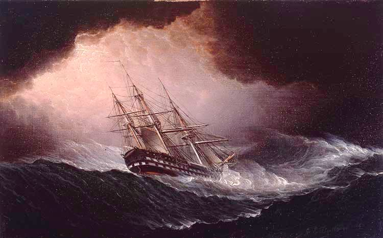 Ship in Heavy Storm