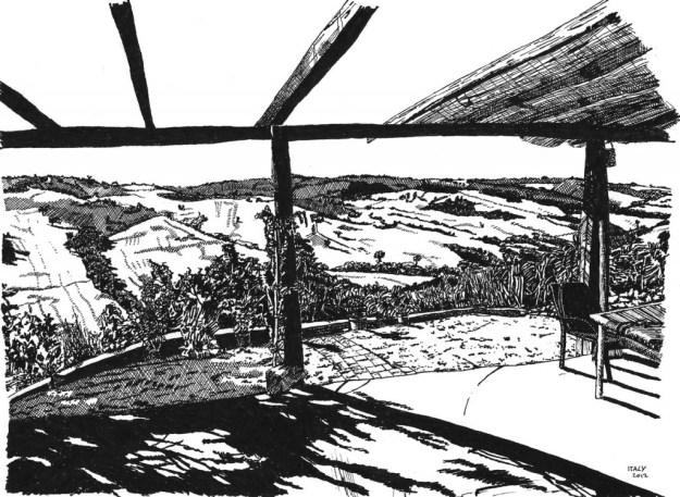 Italian view sketch