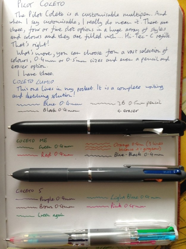 Pilot Coleto handwritten review