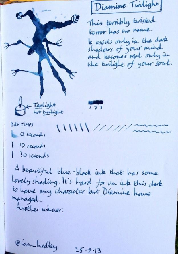 Diamine Twilight ink review