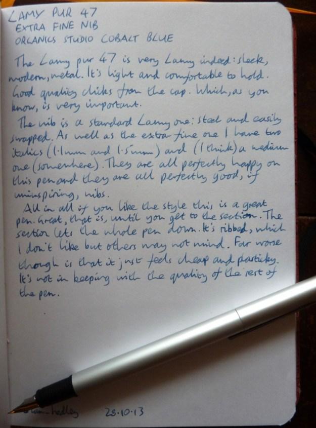Lamy pur 47 handwritten review