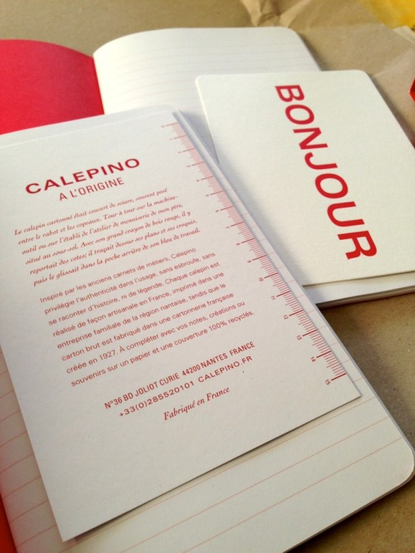 Calepino notebook contents