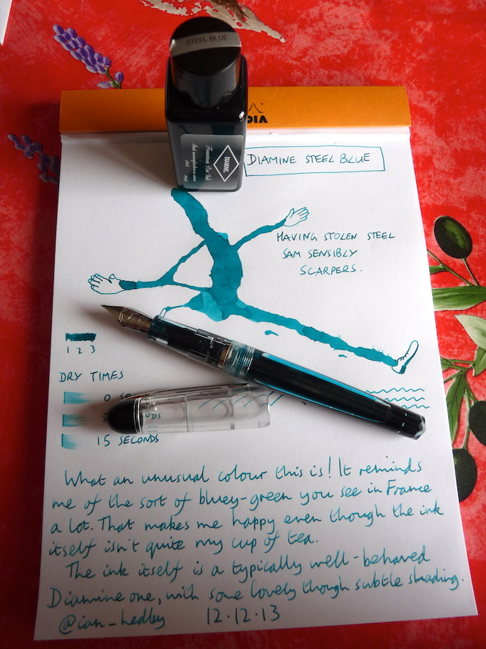 Diamine Steel Blue ink review