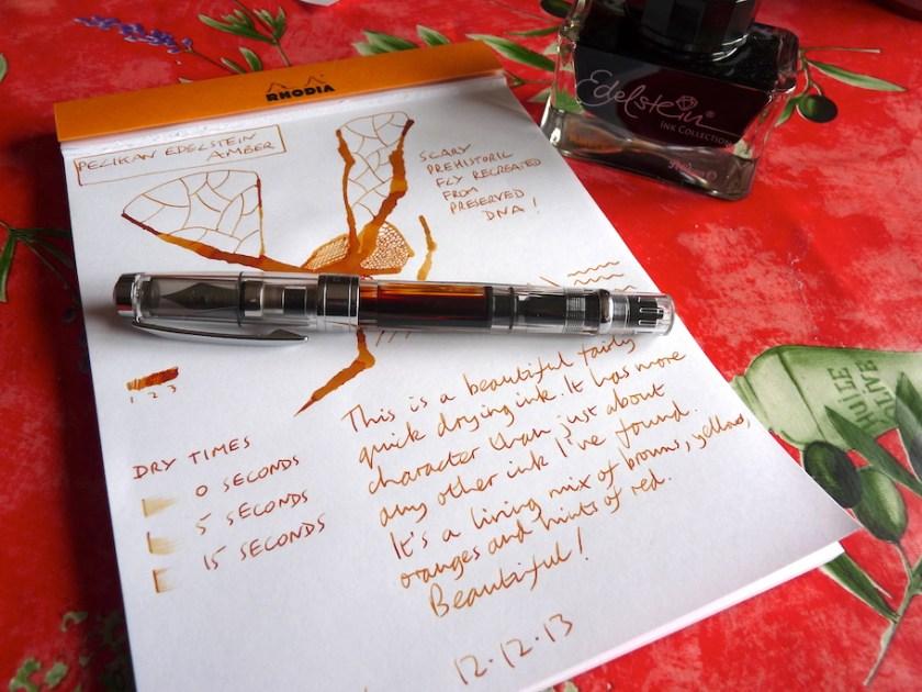 Pelikan Edelstein Amber ink review
