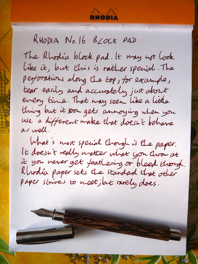 Rhodia No 16 Block notepad review
