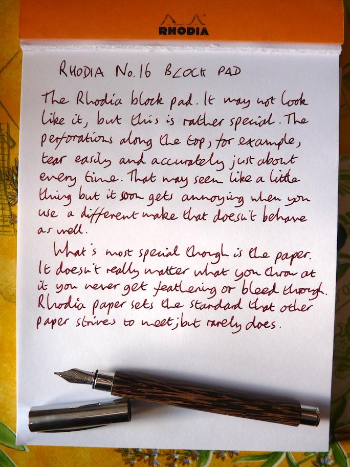 Rhodia No 16 Block notepad review