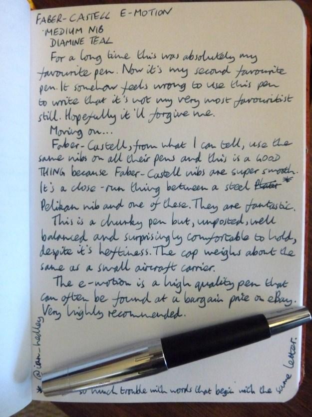 Faber-Castell e-motion handwritten review