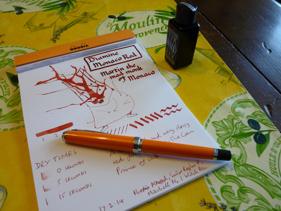 Diamine Monaco Red ink review