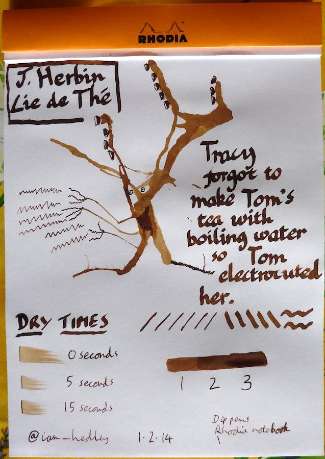 J Herbin Lie de The ink inkling doodle