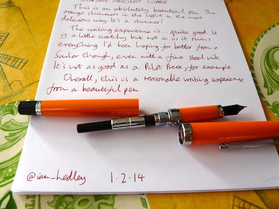 Sailor Reglus fountain pen converter