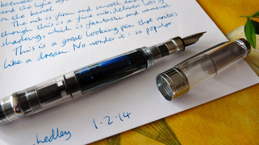 TWSBI Diamond 580 fountain pen uncapped