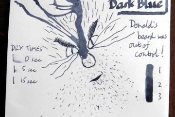 De Atramentis Document Ink Dark Blue ink Inkling doodle