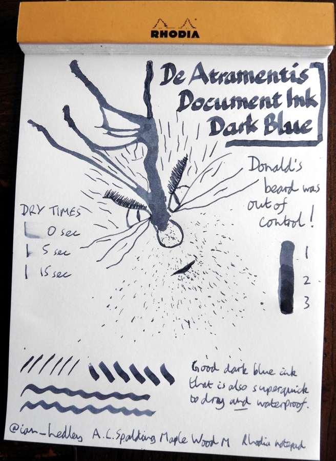 De Atramentis Document Ink Dark Blue ink Inkling doodle
