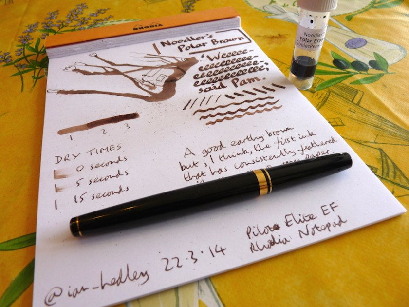 Noodler's Polar Brown ink review