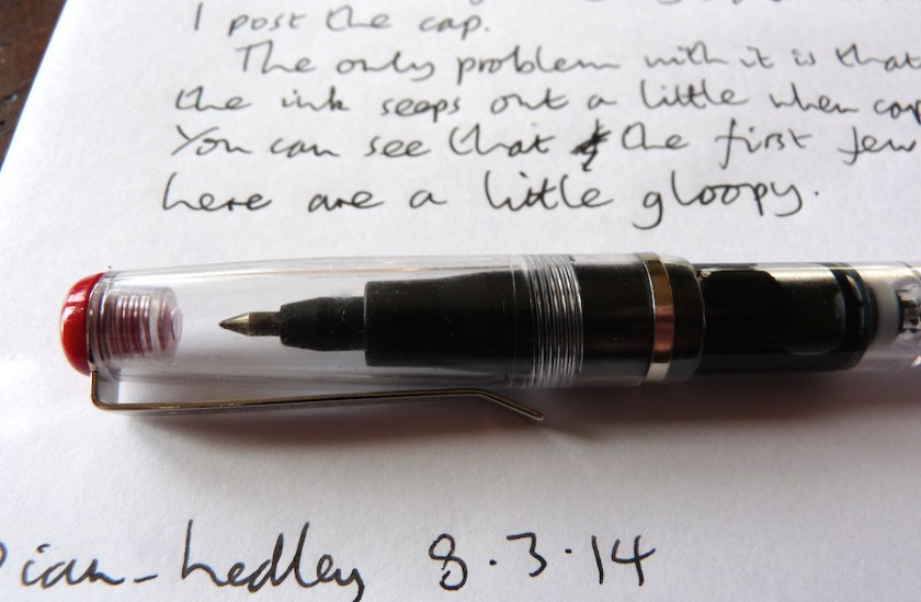 Noodlers Rollerball review capped