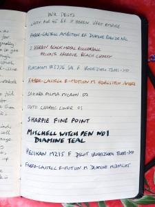 Rhodia Webnotebook ink tests front