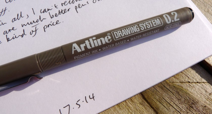 Artline Drawing System drawing pen branding