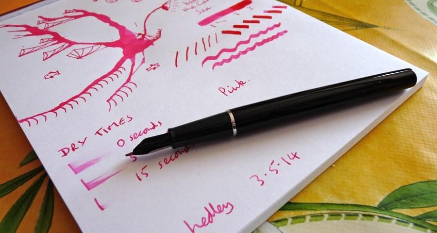 Diamine Cerise ink review