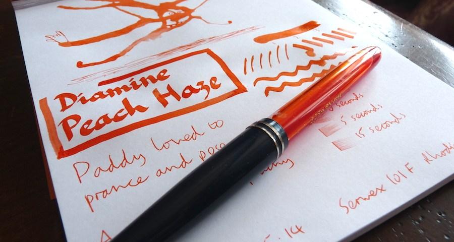 Diamine Peach Haze ink review