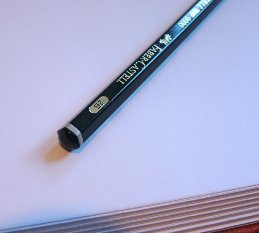 Faber-Castell 9000 pencil blunt end