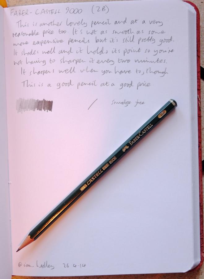 Faber-Castell 9000 pencil handwritten review