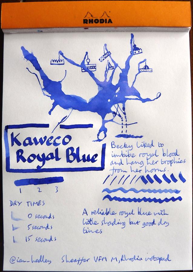 Kaweco Royal Blue Inkling doodle
