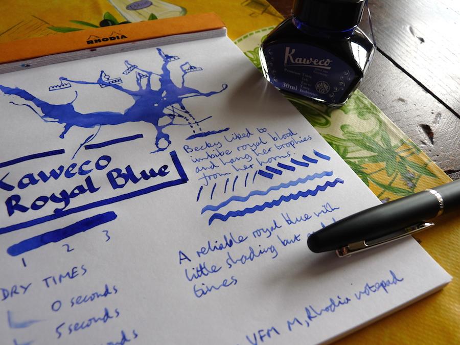 Kaweco Royal Blue ink review