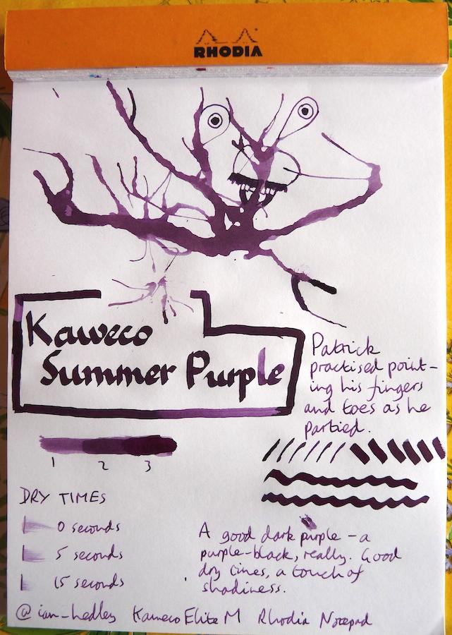 Kaweco Summer Purple Inkling doodle