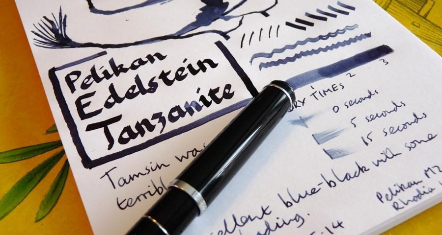 Pelikan Edelstein Tanzanite ink review