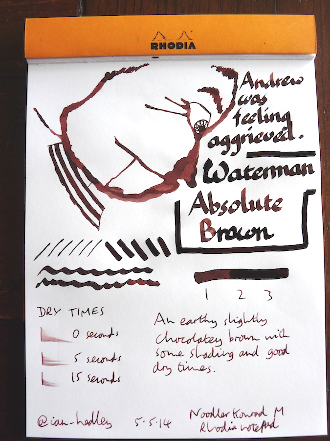 Waterman Absolute Brown Inkling doodle