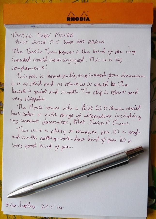 Tech Turn Mover pen handwritten review
