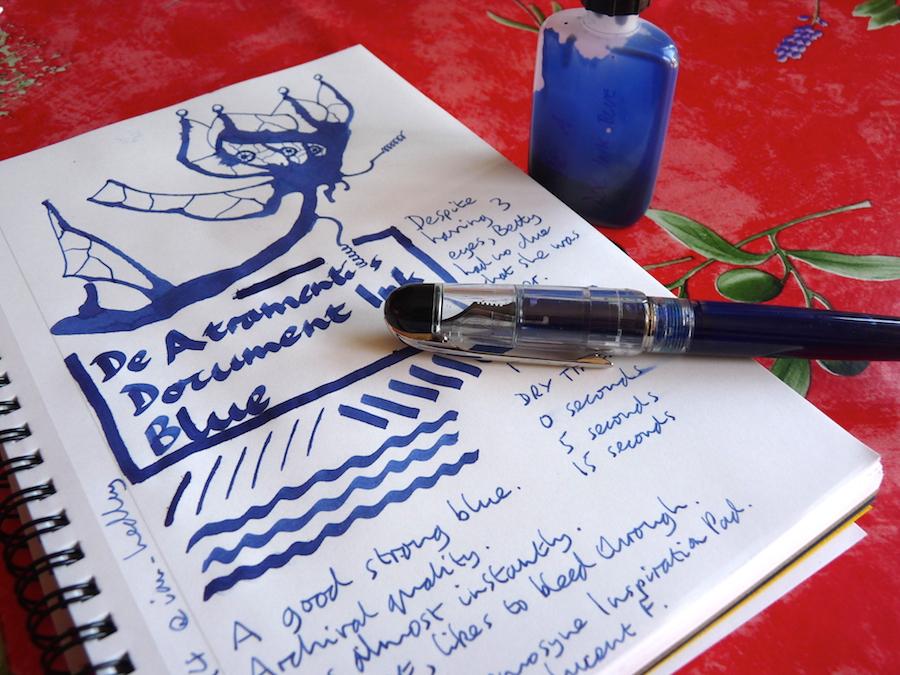 De Atramentis Document Ink Blue ink review