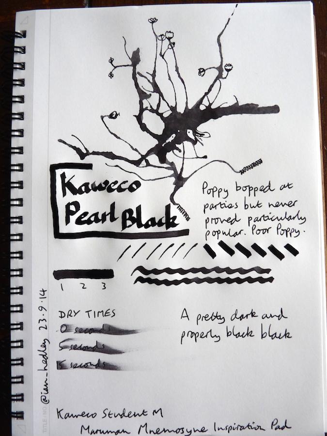 Kaweco Pearl Black Inkling doodle