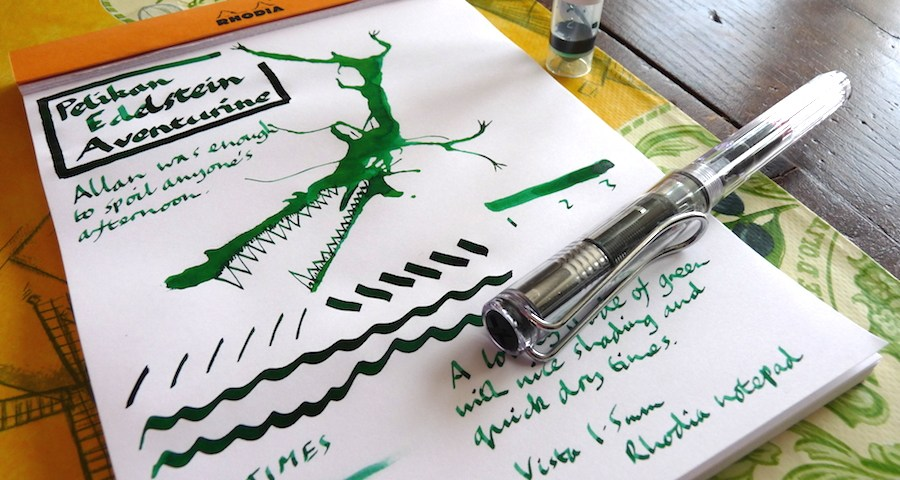 Pelikan Edlestein Aventurine ink review
