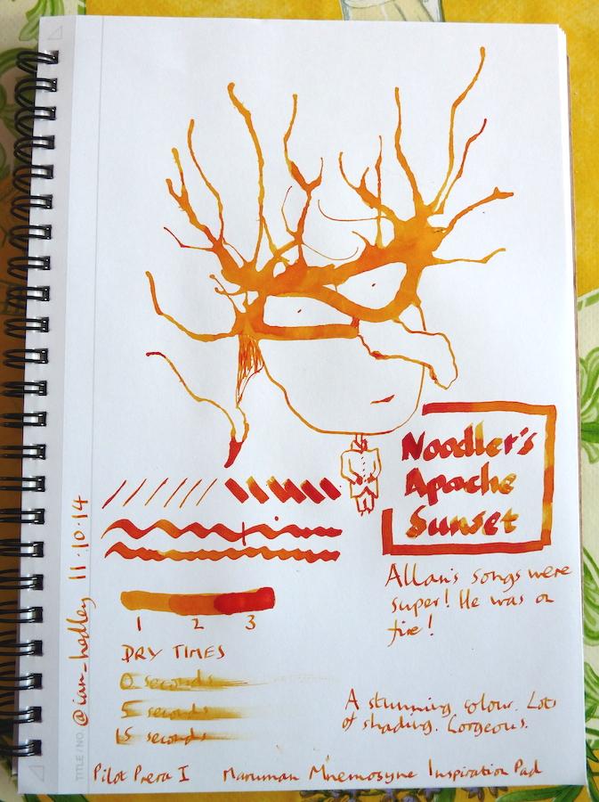 Noodler's Apache Sunset Inkling