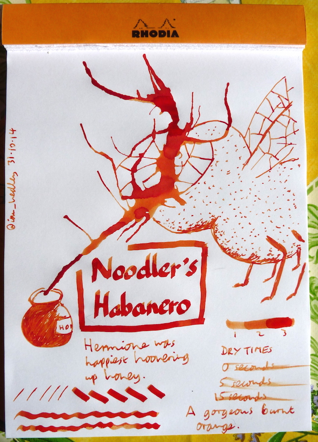Noodlers Habanero inkling