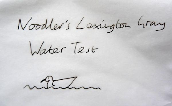 Noodlers Lexington Gray water test